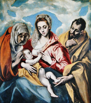 10el_grecothe_holy_family_with_sain