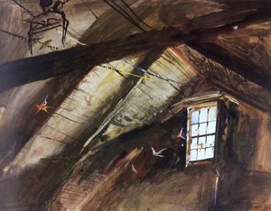 12wyethswallows_in_olsons_barn1953