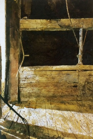 16wyethhayloft_in_olsons_barn1966